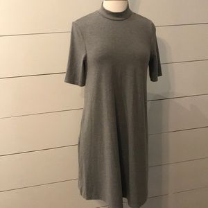 TopShop heather gray, swing dress with high neck